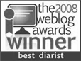 the 2008 weblog awards winner best diarist