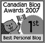 canadian blog awards 2007 1st best personal blog