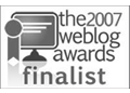 the 2007 weblog awards finalist