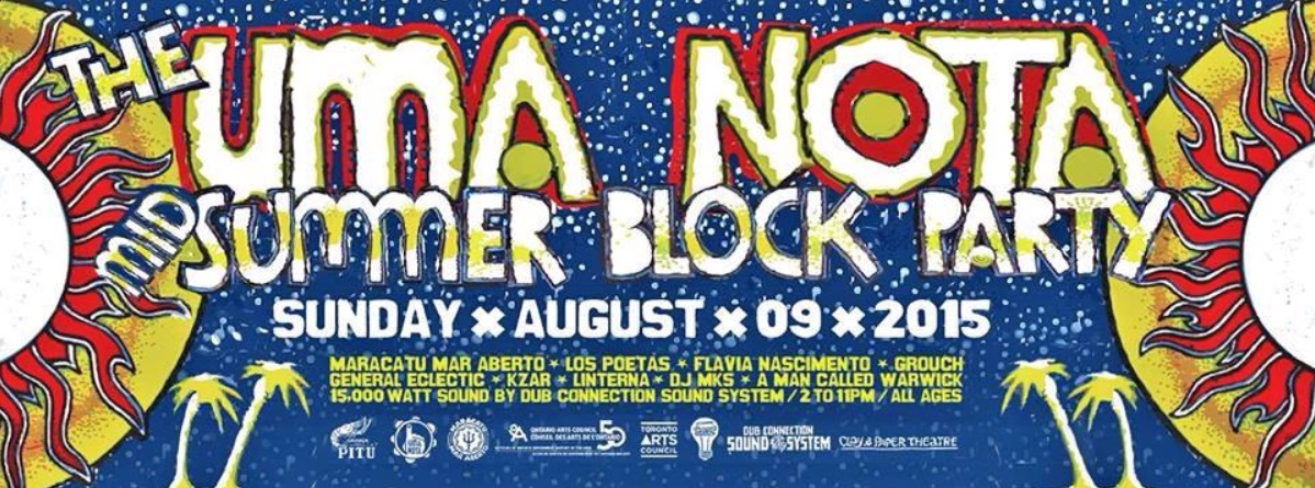 Uma Nota Block party poster, 23 strachen