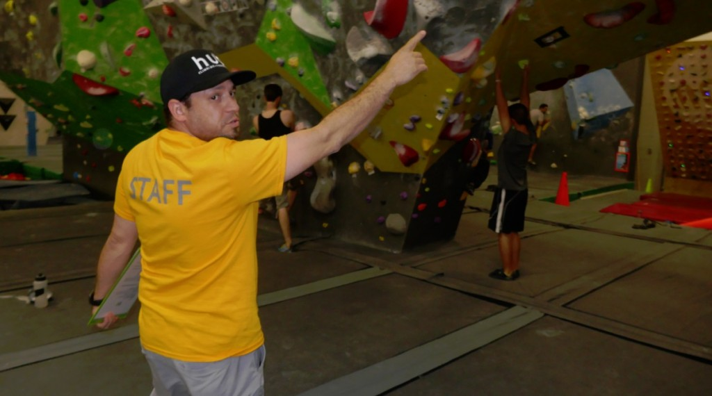 Brandon Rowland takes group on tour of the Hub climbing gym in Markham
