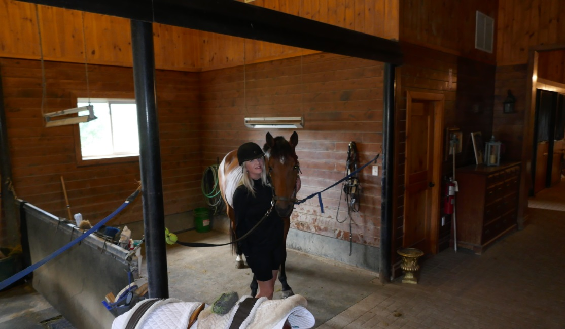 Raymi with Dutch Warmblood Athena at Halton Place Equestrian